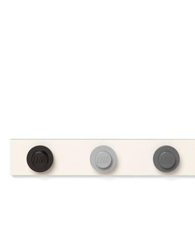 Nástenný vešiak v čiernej, sivej, tmavosivej farbe LEGO®,, 35 x 6,8 cm