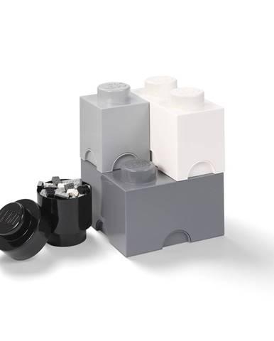 Set 4 plastových úložných škatúľ LEGO®, 25 x 25 x 33 cm