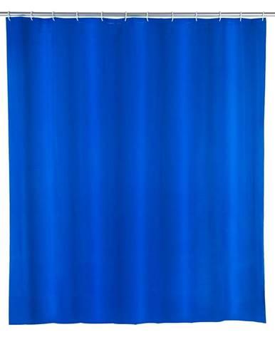 Modrý sprchový záves Wenko Night