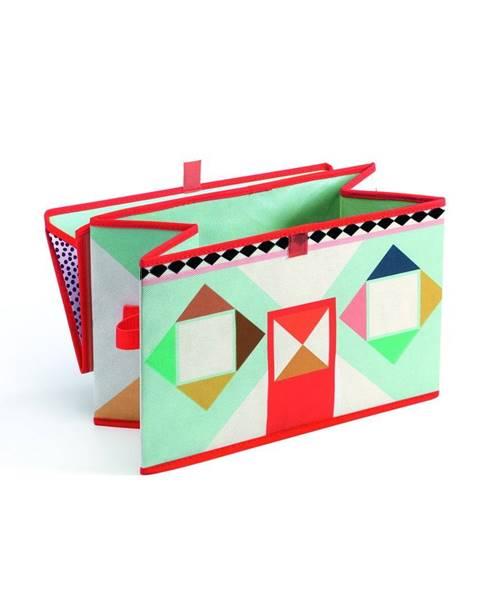 Djeco Pestrofarebná škatuľka na hračky Djeco Domček