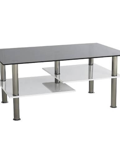 Konferenčný stolík biela extra vysoký lesk HG/ sklo SVEN