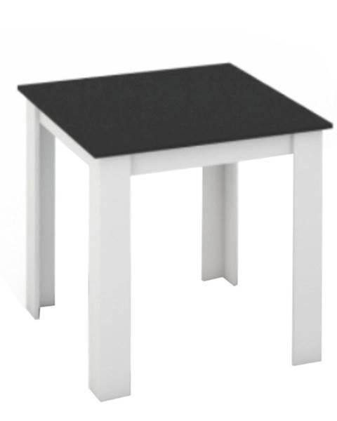 Tempo Kondela Jedálenský stôl biela/čierna 80x80 KRAZ
