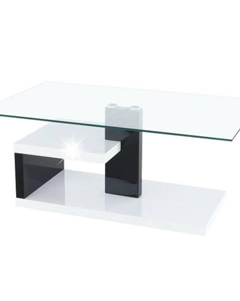 Tempo Kondela Konferenčný stolík biela extra vysoký lesk HG/čierna extra vysoký lesk HG LARS NEW
