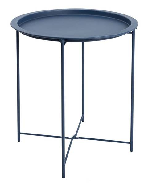 Tempo Kondela Príručný stolík s odnímateľnou táckou tmavomodrá RENDER