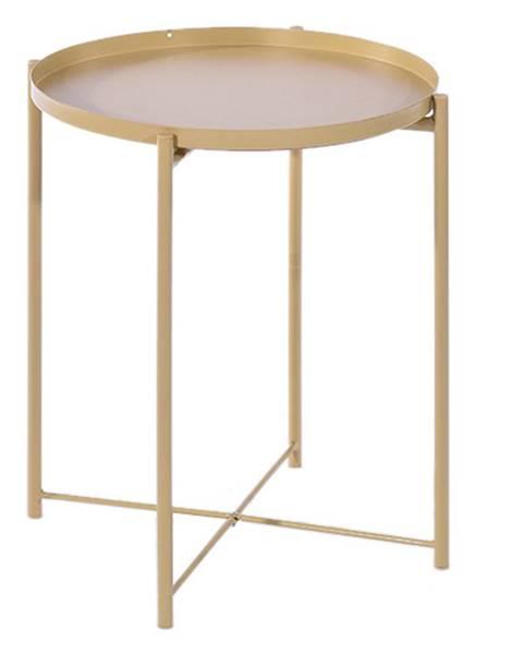 Tempo Kondela Príručný stolík s odnímateľnou táckou žltá TRIDER