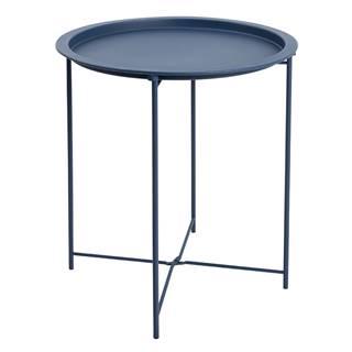Príručný stolík s odnímateľnou táckou tmavomodrá RENDER