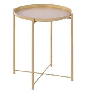 Príručný stolík s odnímateľnou táckou žltá TRIDER