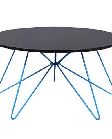 Konferenčný stolík čierny dub/modrá MIKKEL poškodený tovar