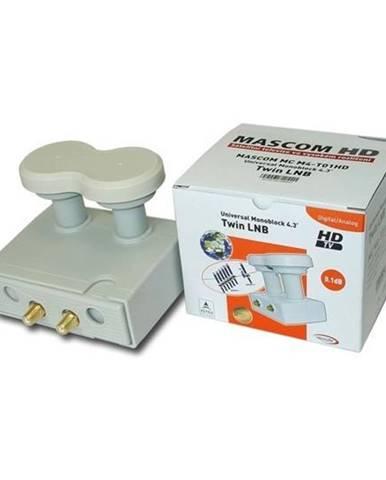 Konvertor Mascom LNB-Mcm4t01hd biely