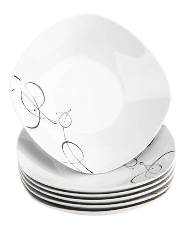 Domestic 6-dielna sada hlbokých tanierov Chanson, 21,5 cm