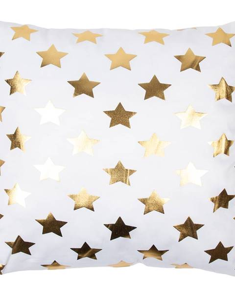Florina JAHU Vankúšik Gold De Lux Hviezdy, 43 x 43 cm