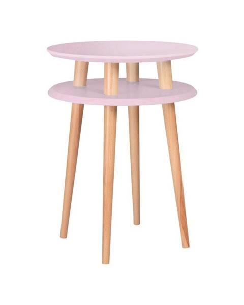 Ragaba Ružový konferenčný stolík Ragaba UFO,⌀45cm