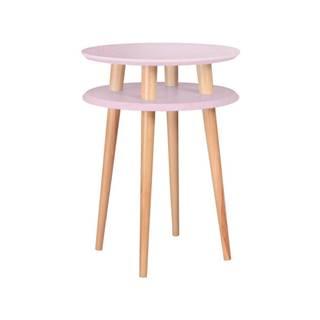Ružový konferenčný stolík Ragaba UFO,⌀45cm