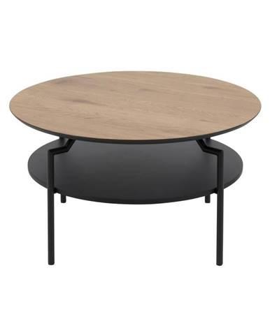 Čierno-hnedý konferenčný stôl Actona Goldington, ⌀ 80 cm