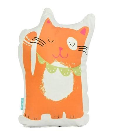 Bavlnený vankúšik Moshi Moshi Cat & Mouse, 40×30cm