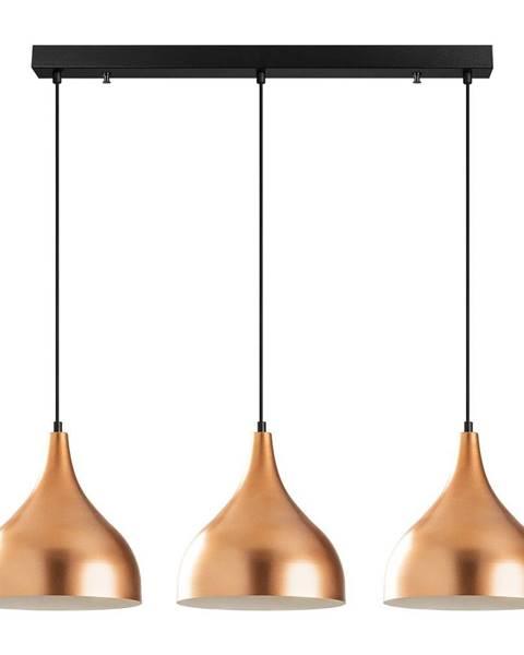 Opviq lights Závesné svietidlo pre 3 žiarovky v medenej farbe Opviq lights Sağlam