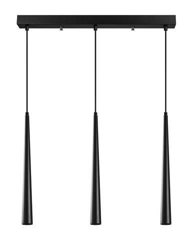 Čierne závesné svietidlo pre 3 žiarovky Opviq lights Uğur
