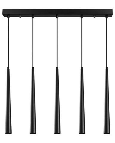 Čierne závesné svietidlo pre 5 žiaroviek Opviq lights Uğur Long