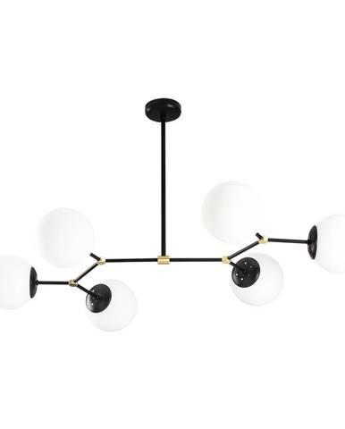 Čierne závesné svietidlo pre 6 žiaroviek Opviq lights Damar Horizontal