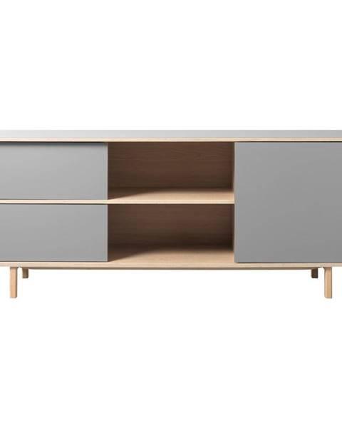 Unique Furniture Sivá nízka komoda Unique Furniture Bilbao