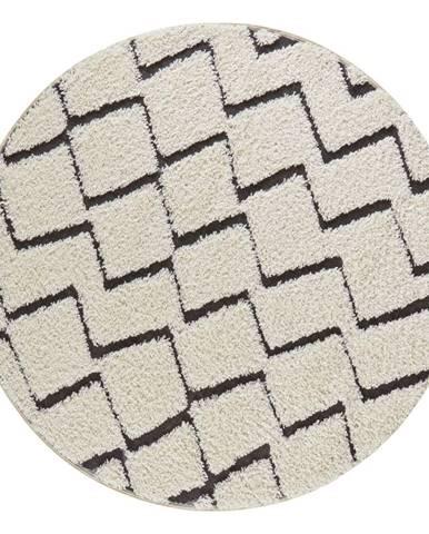 Béžovo-čierny koberec Mint Rugs Handira,⌀160cm
