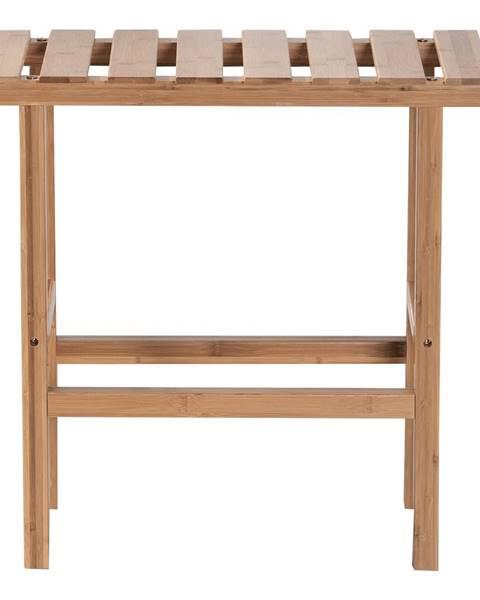 Kondela Príručný stolík k vírivke v tvare obdĺžnika prírodný bambus VIREO TYP 2