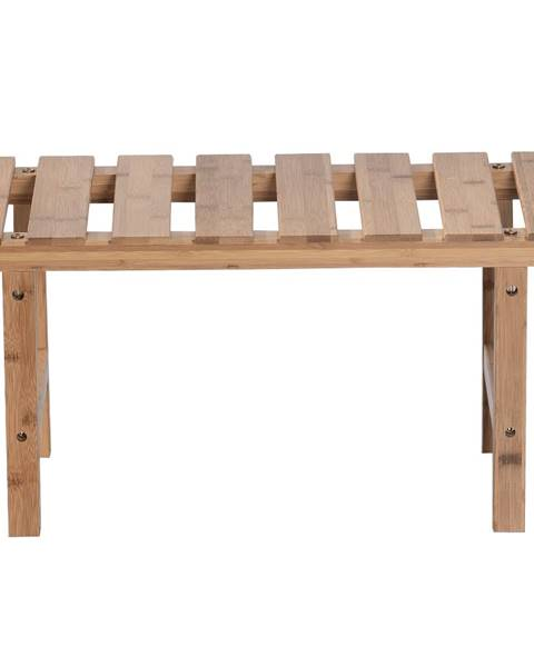 Tempo Kondela Príručný stolík k vírivke v tvare obdĺžnika prírodný bambus VIREO TYP 4