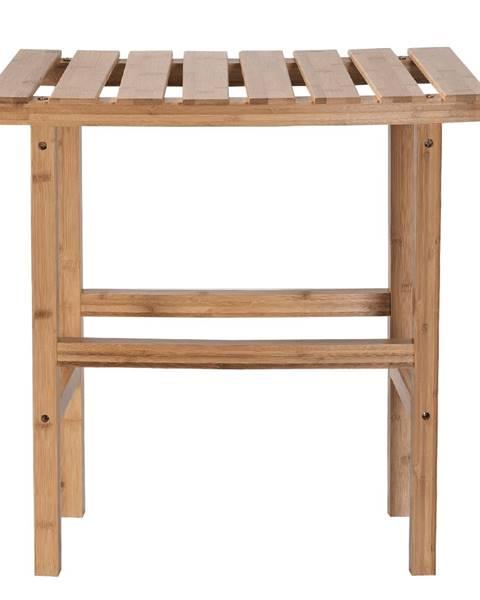 Tempo Kondela Príručný stolík k vírivke v tvare oblúka prírodný bambus VIREO TYP 1