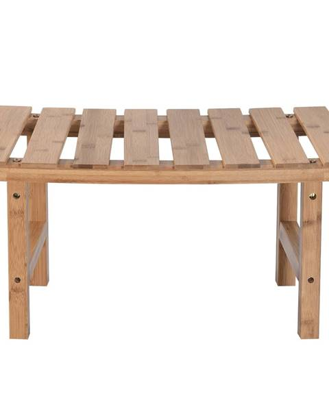 Tempo Kondela Príručný stolík k vírivke v tvare oblúka prírodný bambus VIREO TYP 3