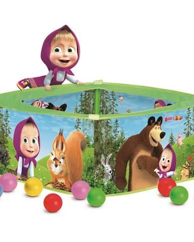 Bino Bazén s balónikmi Máša a medveď, 30 x 75 x 75 cm