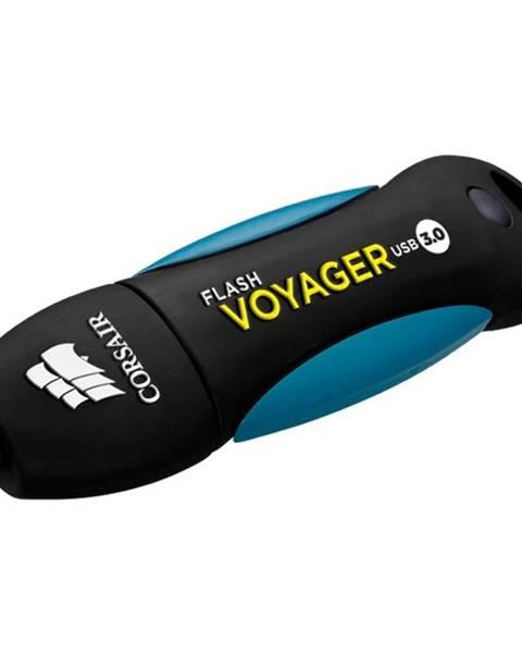 CORSAIR USB flash disk Corsair Voyager 64GB čierny/modrý