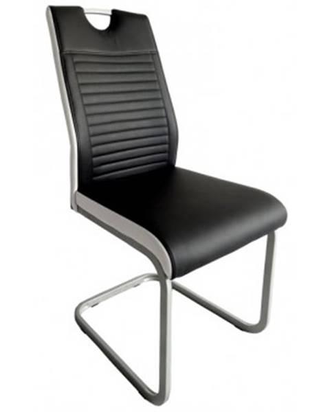 ASKO - NÁBYTOK Jedálenská stolička Rindul, čierna / biela ekokoža%