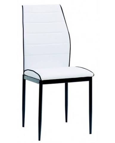 Jedálenská stolička Round, biela ekokoža%