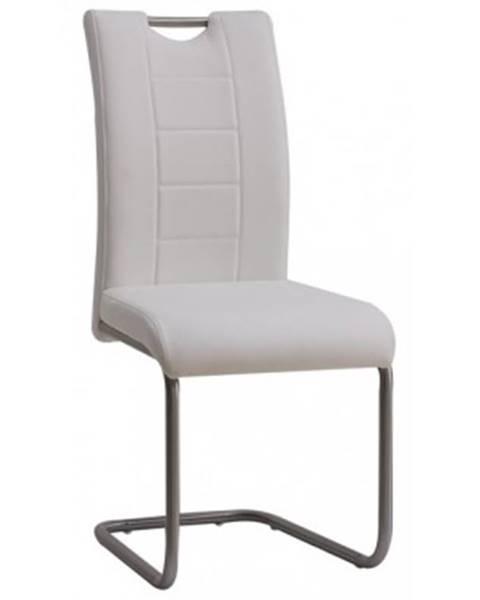 ASKO - NÁBYTOK Jedálenská stolička Cindy, biela ekokoža%