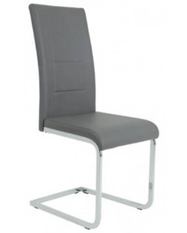 Jedálenská stolička Joana, šedá ekokoža%