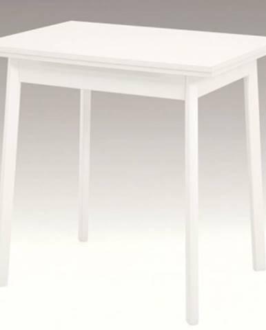 Jedálenský stôl Trier II 75x55 cm, biely, rozkladacia%