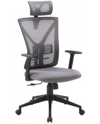 Kancelárska stolička Image, šedá látka%