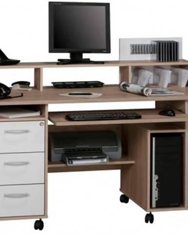 Písací stôl Model 9475, dub sonoma/biely%