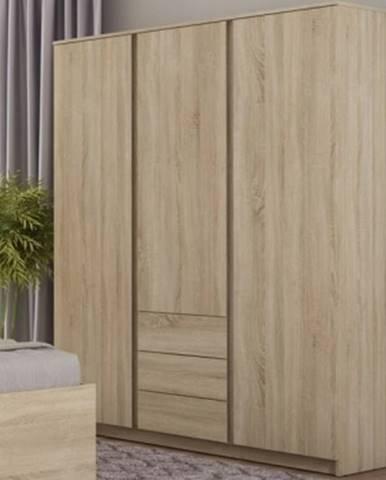 Šatníková skriňa Carlos, dub sonoma, 152 cm%