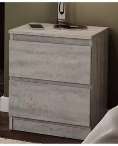Skrinka /nočný stolík Carlos 402S, šedý beton%