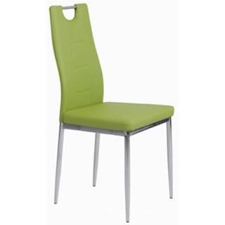 Jedálenská stolička Melania, zelená ekokoža%