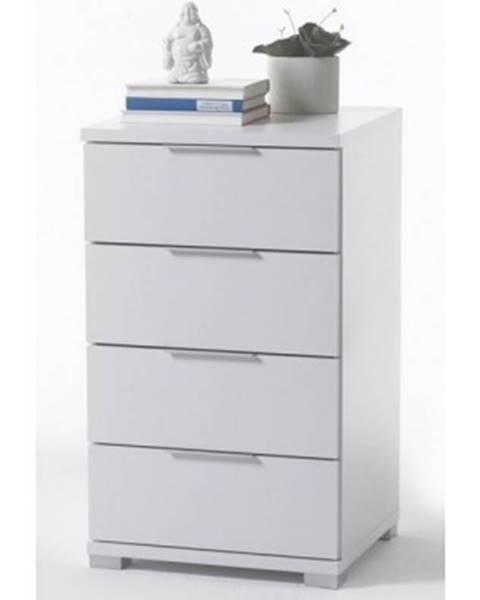 ASKO - NÁBYTOK Vysoký nočný stolík / skrinka Samson Plus, biely%