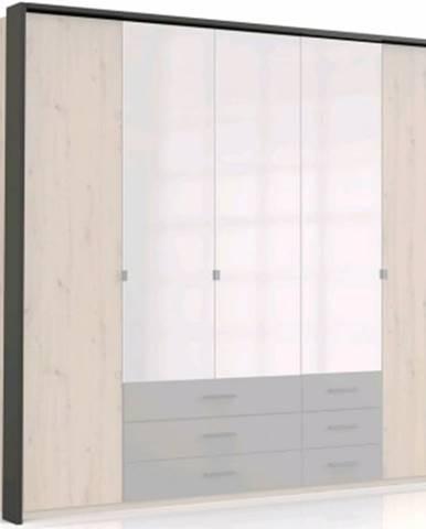 Paspartový rám k šatníkovej skrini Coventry, 228 cm, antracitová oceľ%