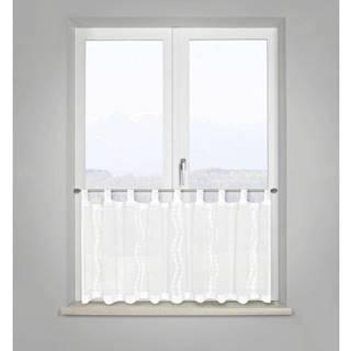 krátka Záclona Liselotte, 50/145 Cm, Biela