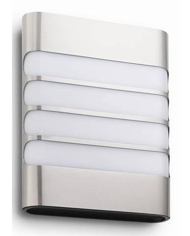 Philips 17273/47/16 Raccoon Vonkajšie nástenné LED svietidlo 20 cm, strieborná