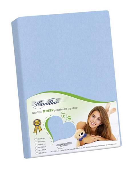 Bellatex Bellatex Jersey prestieradlo Kamilka svetlo modrá, 120 x 200 cm
