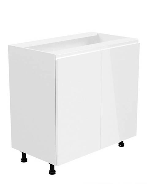 Tempo Kondela Spodná skrinka biela/biela extra vysoký lesk AURORA D80