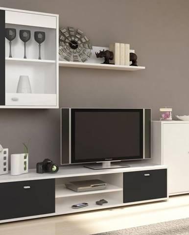 Obývacia stena biela/čierna GENTA