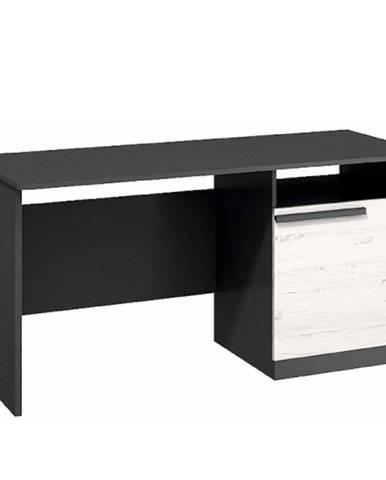 PC stôl sosna andersen/sivá grafit BEVERLY