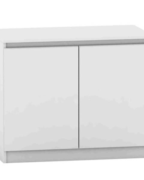 Kondela 2 dverová komoda biela HANY NEW 008